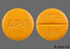 Orange-Brown Round Tablet Apo And Ima 100 - Imatinib Mesylate 100mg Tablet