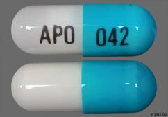Blue And White Capsule Apo 042 - Acyclovir 200mg Capsule