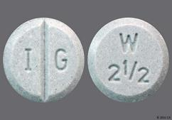 Green Round Tablet W 2 1/2 And I G - Warfarin Sodium 2.5mg Tablet