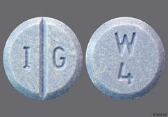 Blue Round Tablet W 4 And I G - Warfarin Sodium 4mg Tablet