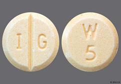 Peach Round Tablet W 5 And I G - Warfarin Sodium 5mg Tablet