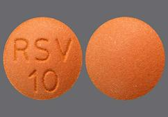 Brown Round Tablet Rsv 10 - Rosuvastatin Calcium 10mg Tablet