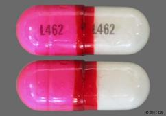 Pink And White Capsule L462 L462 - GNP Allergy 25mg Capsule