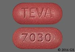 Red-Brown Oblong 7030 And Teva - Amlodipine/Olmesartan Medoxomil 10mg-40mg Tablet