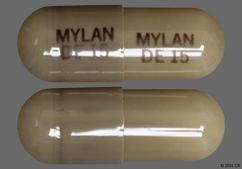 Gray Capsule Mylan De 15 Mylan De 15 - Dexmethylphenidate Hydrochloride 15mg Extended-Release Capsule