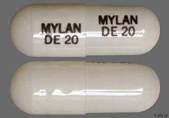 White Capsule Mylan De 20 Mylan De 20 - Dexmethylphenidate Hydrochloride 20mg Extended-Release Capsule