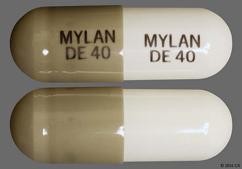 White And Gray Capsule Mylan De 40 Mylan De 40 - Dexmethylphenidate Hydrochloride 40mg Extended-Release Capsule