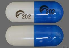 Blue And White Capsule Logo 202 - Methylphenidate Hydrochloride 40mg Extended-Release Capsule