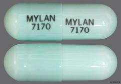 Blue-Green Capsule Mylan 7170 Mylan 7170 - Celecoxib 400mg Capsule