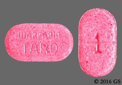 Pink Oblong Tablet 1 And Warfarin Taro - Warfarin Sodium 1mg Tablet