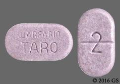 Purple Oblong Tablet Warfarin Taro And 2 - Warfarin Sodium 2mg Tablet