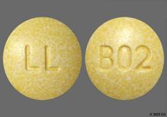Yellow Round Tablet Ll And B02 - Lisinopril/Hydrochlorothiazide 20mg-12.5mg Tablet