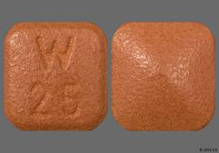 Tan Square Tablet W 25 - Desvenlafaxine 25mg Extended-Release Tablet