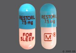 Blue And Pink Capsule Restoril 7.5Mg Restoril 7.5Mg For Sleep Logo - Restoril 7.5mg Capsule