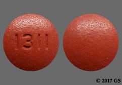 Red-Brown Round Tablet 1311 - Amlodipine/Olmesartan Medoxomil 10mg-40mg Tablet