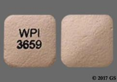 Pink Square Wpi 3659 - Desvenlafaxine 50mg Extended-Release Tablet