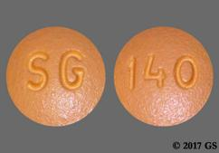 Yellow Round Tablet Sg And 140 - Donepezil Hydrochloride 10mg Tablet