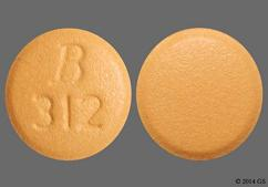 Beige Round Tablet B 312 - Doxycycline Hyclate 100mg Tablet