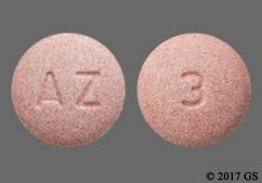 Pink Round Tablet 3 And Az - Aripiprazole 10mg Tablet