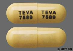 Brown Tablet Teva 7589 Teva 7589 - Atomoxetine 100mg Capsule