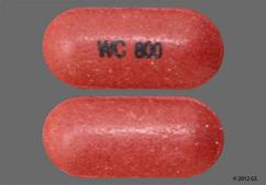Red-Brown Oblong Tablet Wc 800 - Mesalamine 800mg Delayed-Release Tablet