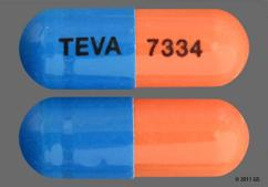 Blue And Orange Capsule 93 7334 93 7334 - Mycophenolate Mofetil 250mg Capsule