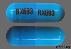 Blue Capsule Rx693 Rx693 - Clindamycin Hydrochloride 300mg Capsule