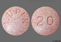 Pink Round Lupin And 20 - Lisinopril 20mg Tablet