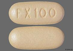 Pink-Orange Oblong Fx100 - Viberzi 100mg Tablet