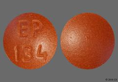 Brown Round Tablet Ep 134 - Imipramine Hydrochloride 25mg Tablet