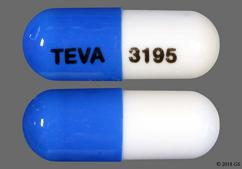 Blue And White Capsule 93 3195 93 3195 And Teva 3195 - Ketoprofen 75mg Capsule