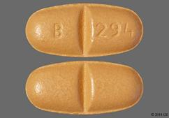 Beige Oval Tablet B 294 - Oxcarbazepine 600mg Tablet