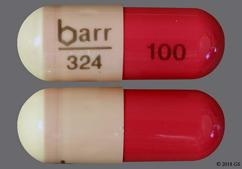 Pink And Yellow Capsule Barr 324 100 - Hydroxyzine Pamoate 100mg Capsule