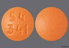 Orange Round Tablet 54 341 - Desvenlafaxine 100mg Extended-Release Tablet