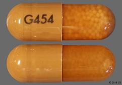 Brown G454 - Amphetamine/Dextroamphetamine Salts 20mg Extended-Release Capsule