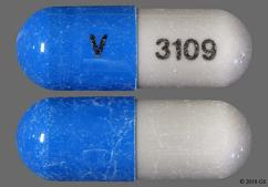 Blue And White V 3109 - Butalbital/Acetaminophen/Caffeine/Codeine Phosphate Capsule