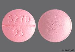 Pink Round 93 5270 - Bisoprolol Fumarate 5mg Tablet