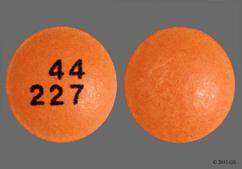 Orange Round Tablet 44 227 - Premier Value Aspirin 325mg Enteric Coated Tablet