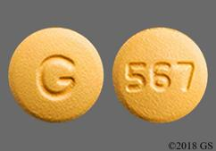 Orange Round Tablet G And 567 - Amlodipine/Olmesartan Medoxomil 10mg-20mg Tablet