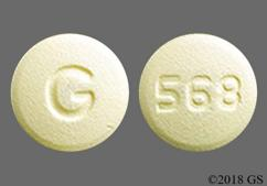 White Round Tablet 568 And G - Amlodipine/Olmesartan Medoxomil 5mg-40mg Tablet