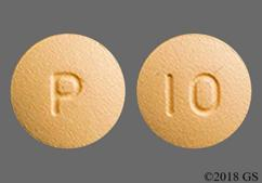 Beige Round P And 10 - Prasugrel 10mg Tablet