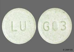 Green Round Tablet Lu And G03 - Lovastatin 40mg Tablet