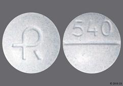 Blue Round Tablet Logo And 540 - Carbidopa/Levodopa 25mg-250mg Tablet