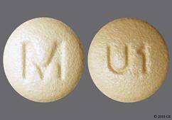 Beige Round Tablet U1 And M - Rosuvastatin Calcium 5mg Tablet