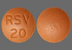 Brown Round Tablet Rsv 20 - Rosuvastatin Calcium 20mg Tablet