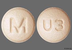 Orange Round Tablet M And U3 - Rosuvastatin Calcium 20mg Tablet