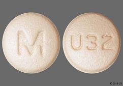 Orange Round Tablet M And U32 - Rosuvastatin Calcium 40mg Tablet