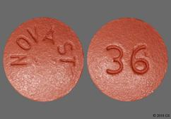 Pink Round Tablet 36 And Novast - Nifedipine 60mg Extended-Release Tablet