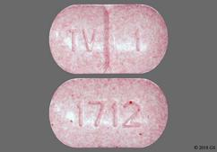 Pink Oblong Tablet 1712 And Tv 1 - Warfarin Sodium 1mg Tablet