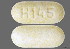 Yellow Oblong Tablet H 145 - Lisinopril 5mg Tablet
